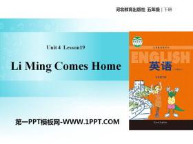 《Li Ming Comes Home》Did You Have a Nice Trip? PPT教学课件