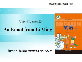 《An Email from Li Ming》Did You Have a Nice Trip? PPT教�W�n件