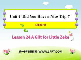 《A Gift for Little Zeke》Did You Have a Nice Trip? PPT课件