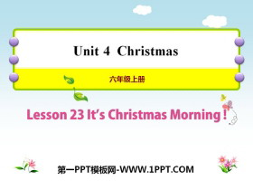 《It's christmas Morning!》Christmas PPT教学课件