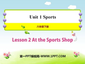 《At the Sport Shop》Sports PPT�n件