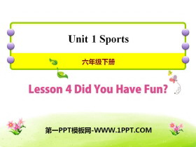 《Did You Have Fun?》Sports PPT课件