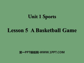 《A Basketball Game》Sports PPT