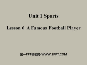 《A Famous Football Player》Sports PPT