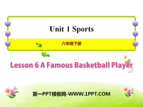 《A Famous Football Player》Sports PPT�n件