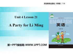 《A Party for Li Ming》Li Ming Comes Home PPT教�W�n件