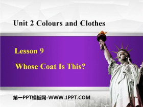 《Whose Coat Is This?》Colours and Clothes PPT教学课件