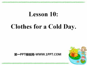 《Clothes for a Cold Day》Colours and Clothes PPT教学课件