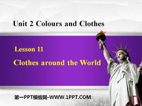 《Clothes around the World》Colours and Clothes PPT免费课件
