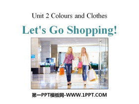 《Let's Go Shopping!》Colours and Clothes PPT