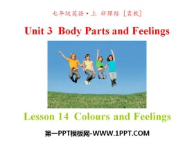 《Colours and Feelings》Body Parts and Feelings PPT课件