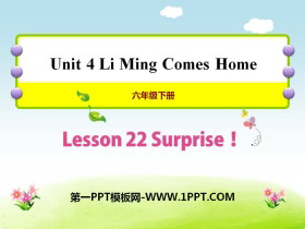 《Surprise!》Li Ming Comes Home PPT�n件