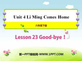 《Good-bye!》Li Ming Comes Home PPT课件