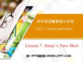 《Jenny's New Skirt》Colours and Clothes PPT教学课件