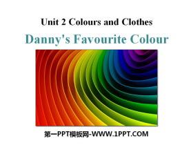 《Danny's Favourite Colour》Colours and Clothes PPT