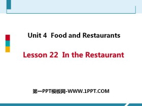 《In the restaurant》Food and Restaurants PPT课件免费下载