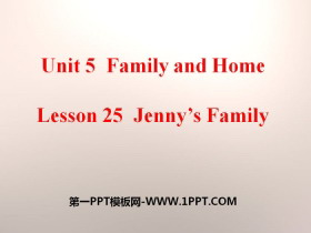《Jenny's Family》Family and Home PPT课件