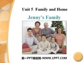 《Jenny's Family》Family and Home PPT下载