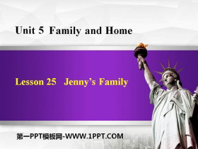 《Jenny's Family》Family and Home PPT教学课件