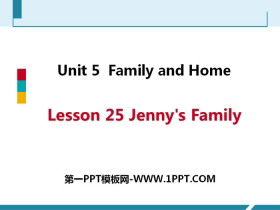 《Jenny's Family》Family and Home PPT课件下载