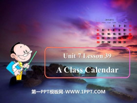 《A Class Calendar》Days and Months PPT