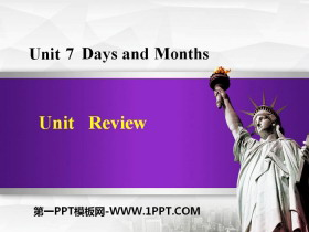《Review》Days and Months PPT