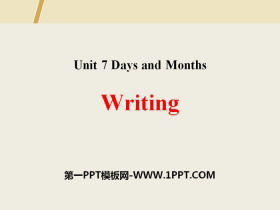 《Writing》Days and Months PPT