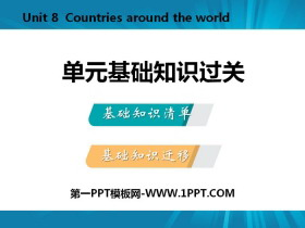 《单元基础知识过关》Countries around the World PPT