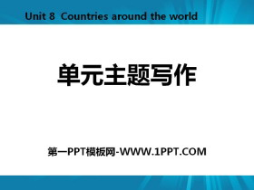 《单元主题写作》Countries around the World PPT