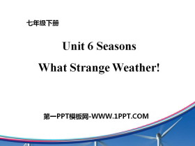 《What Strange Weather!》Seasons PPT课件