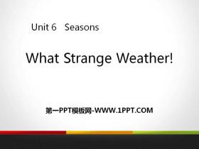 《What Strange Weather!》Seasons PPT下载