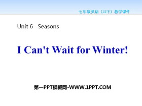《I Can't Wait for Winter!》Seasons PPT