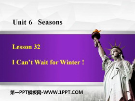 《I Can't Wait for Winter!》Seasons PPT免费课件