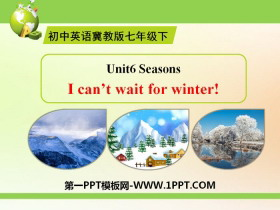 《I Can't Wait for Winter!》Seasons PPT下载