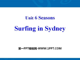 《Surfing in Sydney》Seasons PPT
