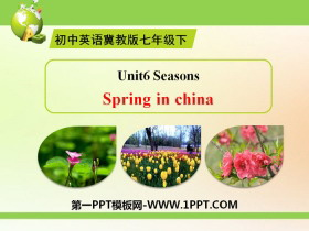 《Spring in china》Seasons PPT