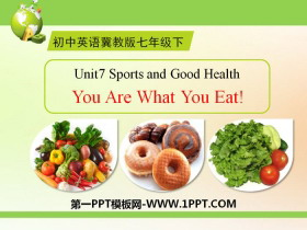 《You Are What You Eat!》Sports and Good Health PPT