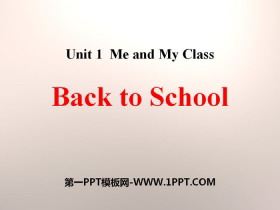 《Back to School》Me and My Class PPT