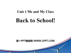 《Back to School》Me and My Class PPT教学课件