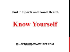 《Know Yourself》Sports and Good Health PPT