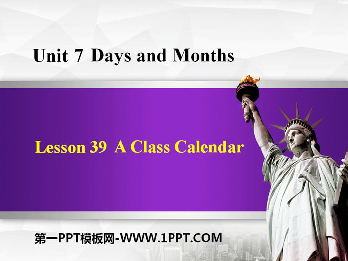 《A Class Calendar》Days and Months PPT课件下载