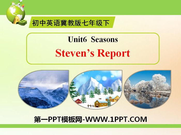 《Steven\s Report》Seasons PPT