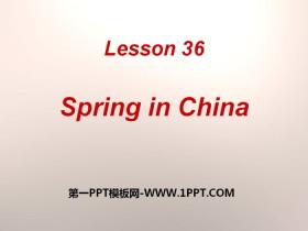 《Spring in china》Seasons PPT课件