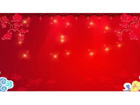四张红色喜庆春节PPT背景图片