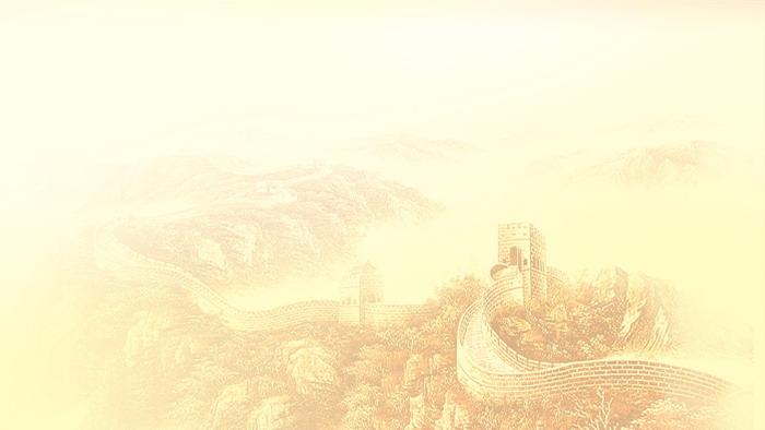 四张万里长城PPT背景图片