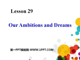 《Our Ambitions and Dreams》My Future PPT