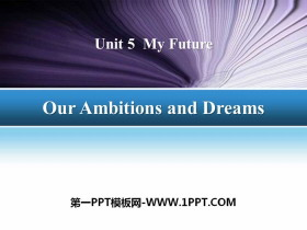 《Our Ambitions and Dreams》My Future PPT�n件