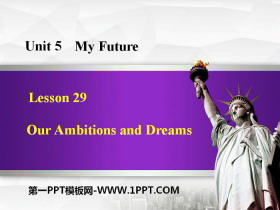 《Our Ambitions and Dreams》My Future PPT下�d