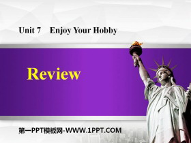 《Review》Enjoy Your Hobby PPT