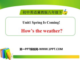 《How's the weather》Spring Is Coming PPT下载